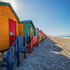 Colourful beach houses, Muizenberg, Western Cape