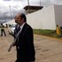 Communications Minister Yunus Carrim welcoming guests at the Mthatha Airport.